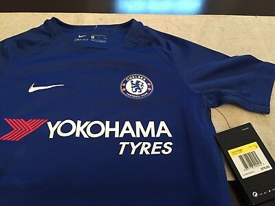 6346cc9b7ad YOUTH NIKE CHELSEA FC BLUE SHORT SLEEVE FOOTBALL SOCCER JERSEY S SMALL NWT