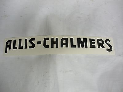 Allis Chalmers Decal Black 1 14 X 12 New. Free Shipping