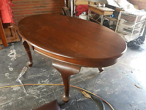 Antique dining table with four chairs Epping Whittlesea Area Preview