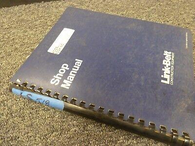 Link-belt Ls-518 Lattice Boom Crawler Crane Shop Service Repair Manual