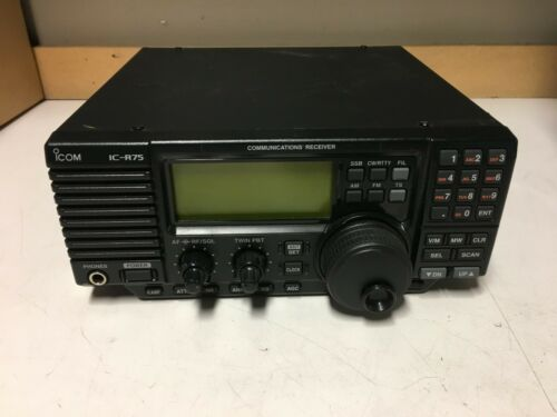 Icom IC-R75 Ham Radio Communications Receiver -Untested