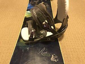 Women's snowboard - Ride Vista w/Burton bindings