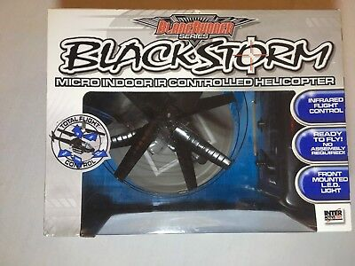 (Blade Runner Black Storm Micro Indoor IR Controlled Helicopter 45059 8+ Infrared)