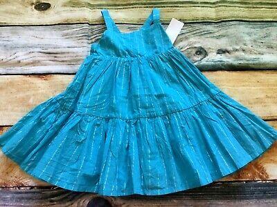 Gymboree 18-24 2T 3T Twirl Dress Mermaid Cove Aqua Blue Silver Stripe NWT Outlet