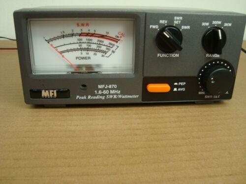 MFJ-870 PEP WATT SWR METER