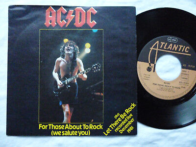 """7"""" AC/DC - For Those About To Rock / Let There Be Rock (Atlantic 11721) 45 P/S segunda mano  Embacar hacia Argentina"""
