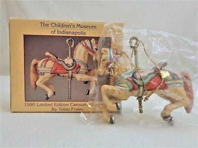 Willitts TOBIN FRALEY 1990 Dentzel Carousel Horse Indianapolis Children's Museum