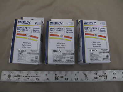 3 New Brady Label Cartridge M21-500-499 Black On White Nylon 12 X 16 Bmp21