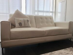 Ivory Condo Sofa (only used for 5 months)