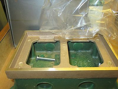Lew Electric  2 Gang Cast Box  SH-6262-58  Lot of 2  Bronze  New Surplus