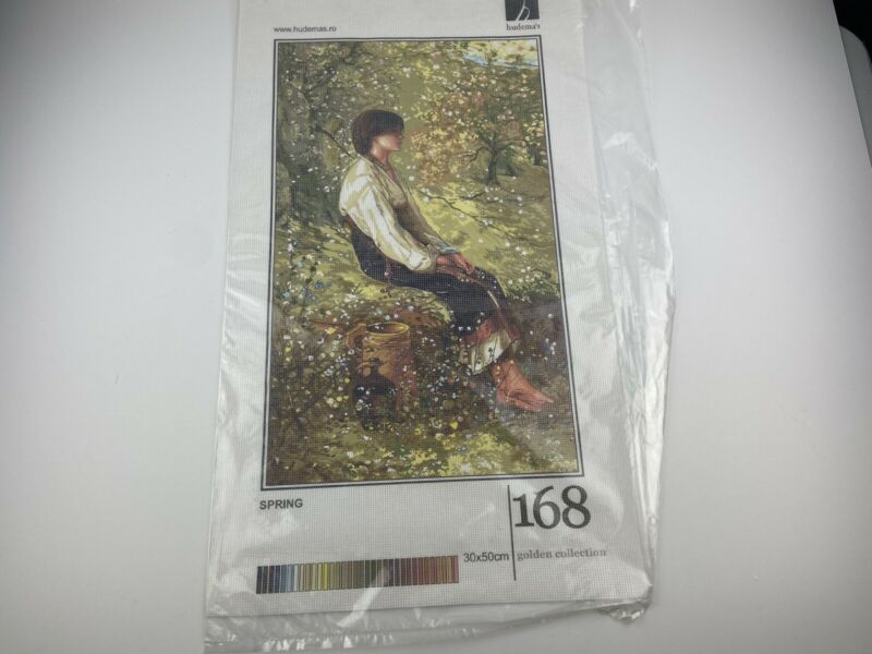 "Hudema's Spring Needlepoint Canvas Needleart Mania 12"" By 20"" Lady Dress"