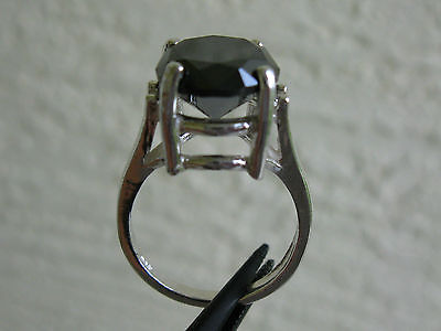 5 22Ct Real Black Diamond Ring Solitaire W Appraisal Free Dia Tester Size 7 Real