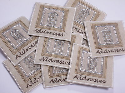 Lilac Embroidered Love Hearts Diamante Crafts Motifs Swatches #6R42 Set of 10