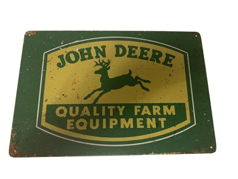 JOHN DEERE TRACTOR FARM BARN AGRICULTURE TOOLS Retro Metal Tin Sign Quality