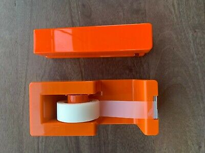 Orange Poppin Office Desk Supplies Tape Dispenser And Stapler