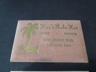 Vintage~Ken's Hula Hut~Hawaiian Bar~Hollywood~California~Vanity Mirror~NOS~Tiki