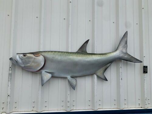"57"" Tarpon Half Fish Mount Replica - 10 BUSINESS DAY PRODUCTION TIME"