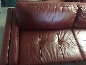 Leather couch and match chair