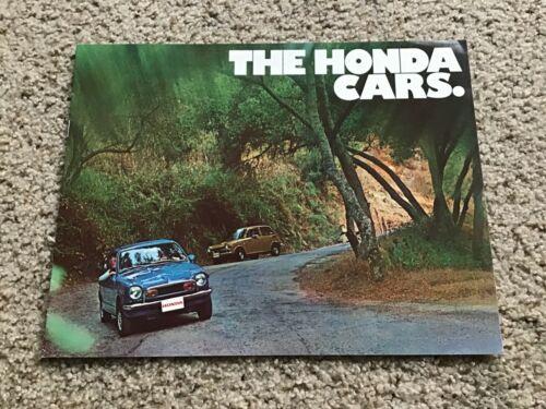 1971 Japanese Honda cars,  original dealership color sales literature.