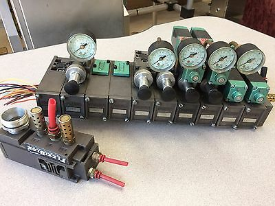 Numatics Flexiblok Solenoid Valve Manifold Assembly Wgage 11 Blocks 4 081ss400
