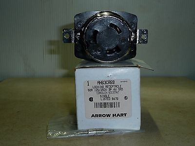 50 Amp Twist Lock Receptacle Arrow Hart Marine Grade Ah63cr69