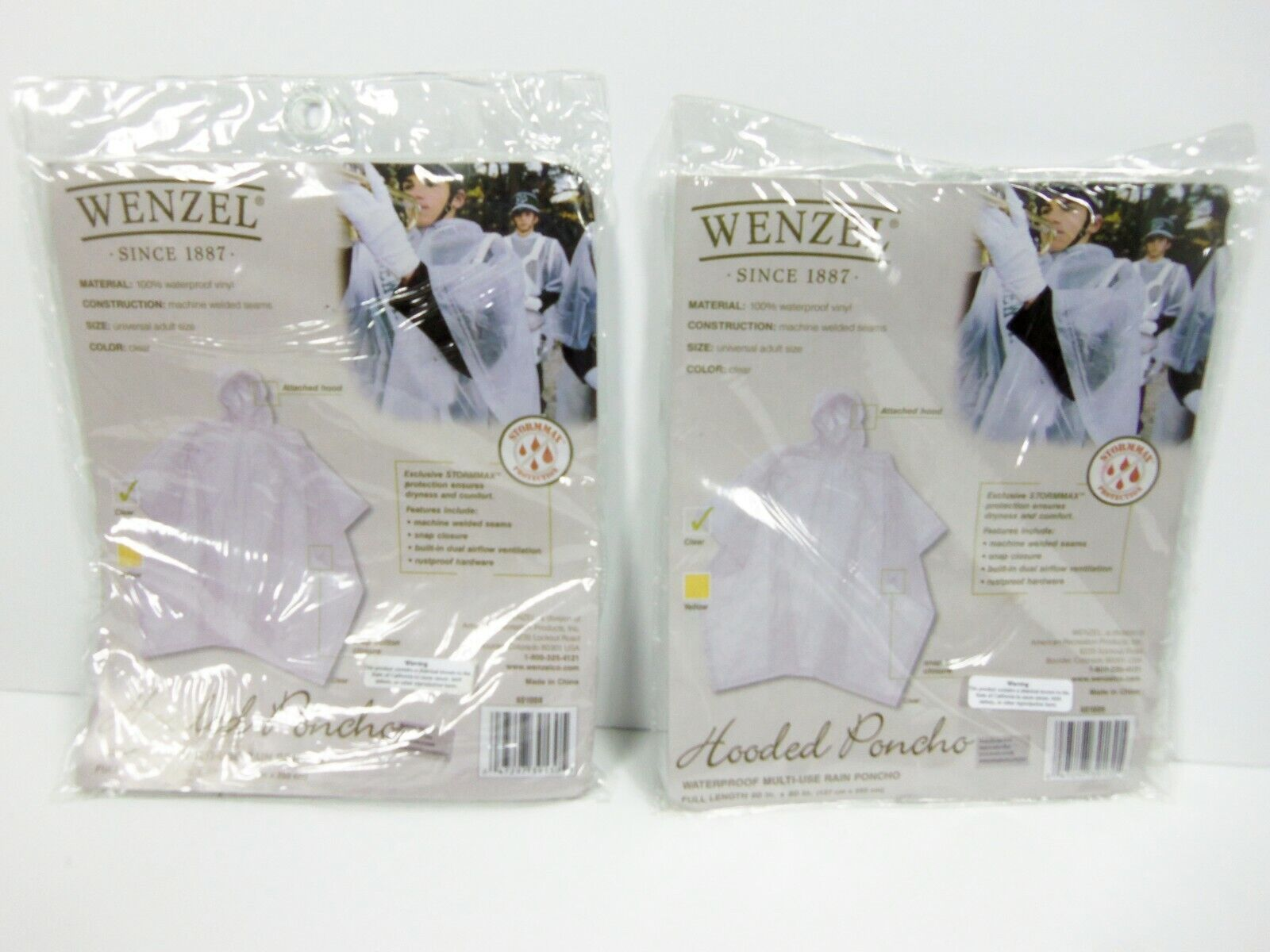 Wenzel Hooded Vinyl Poncho, One Size, Clear