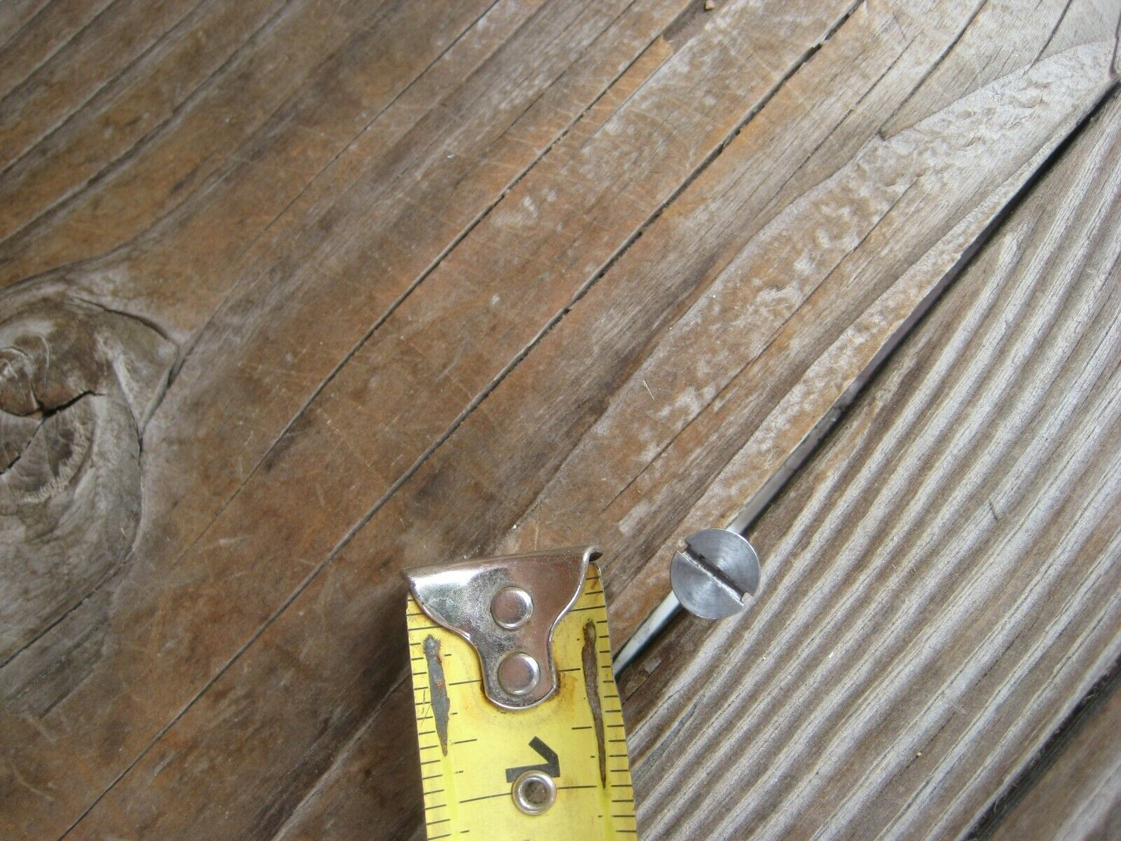 "Vintage #10 Gauge x 1"" Length * Slotted Flat-Head Wood Screw Lot of 2 SWEDEN"