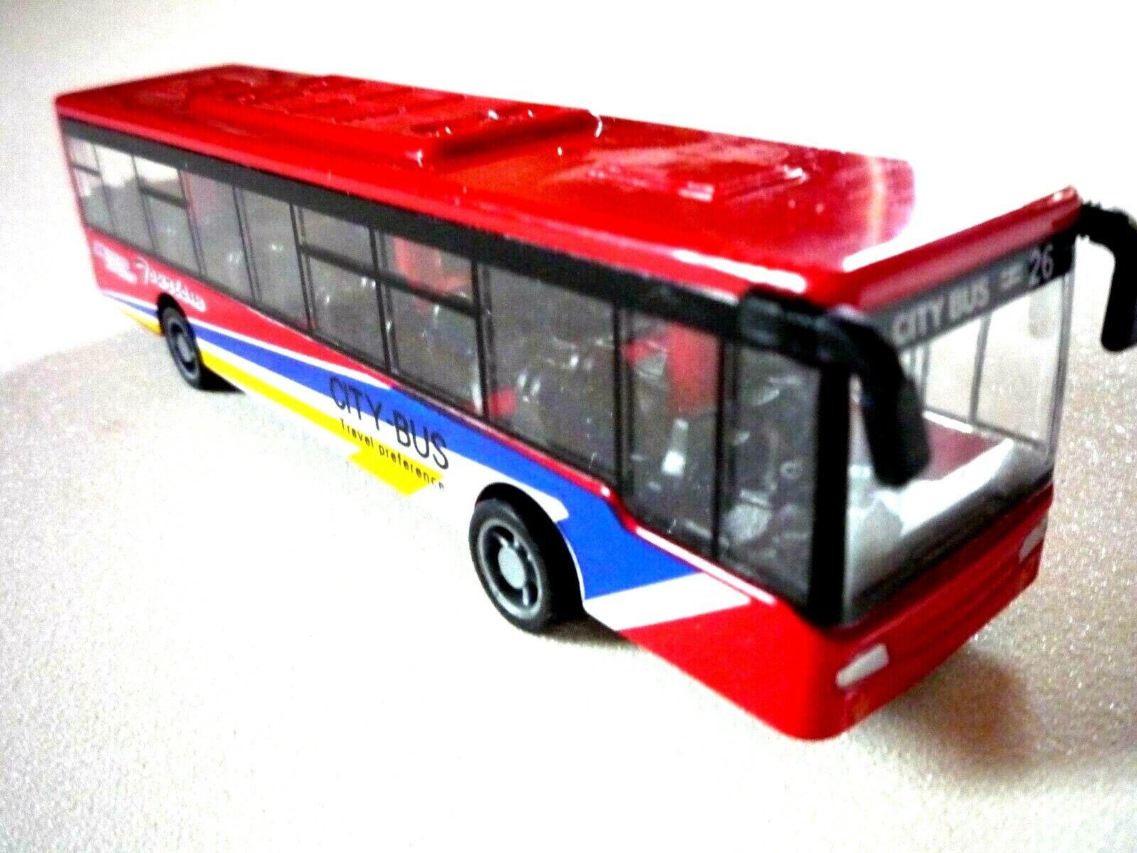 Spielzeugbus Omnibus Reisebus Metallbus Citybus Stadtbus Modellauto Kinderbus