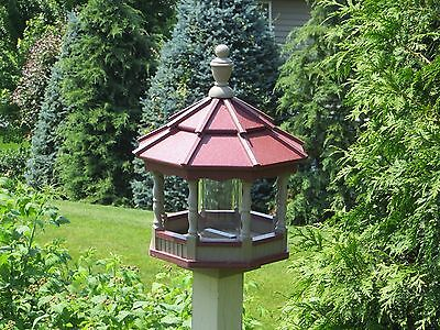 Bird feeder Small Gazebo Poly Bird Feeder  Spindle type Amish Handmade