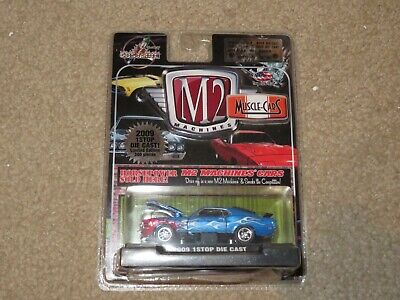 M2 Muscle Cars 1Stop Die Cast 1970 Ford Mustang Mach 1 1 Of 300 Blue Flames MOC