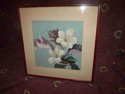 Vintage late 1930s  original Orchid painting by Kupur/Cooper Studios *Worldwide*