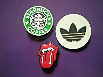 c0f5f2fd5 Jibbitz Croc Clog Shoe Charms Button Bracelet WristBand Starbucks Rolling  Stones