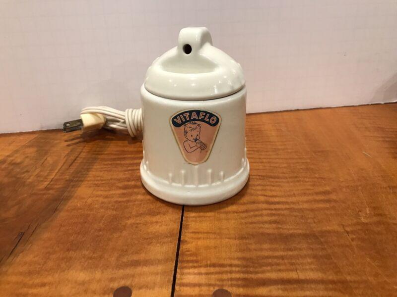 VITAFLO REXWARE Baby Bottle Warmer Vaporizer #601 Ravenna OH WORKS PERFECT VTG