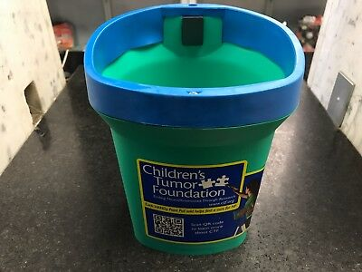 Handy Paint Pail Benefiting Childrens Tumor Foundation W  Brush Magnet New