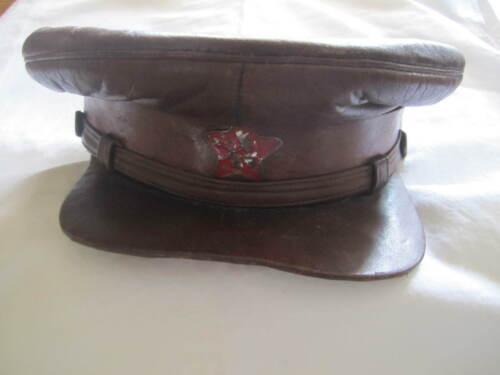 ORIGINAL RUSSIAN CIVIL WAR CHEKA KGB SOVIET VISOR CAP HAMMER AND PLOW 1918-1922