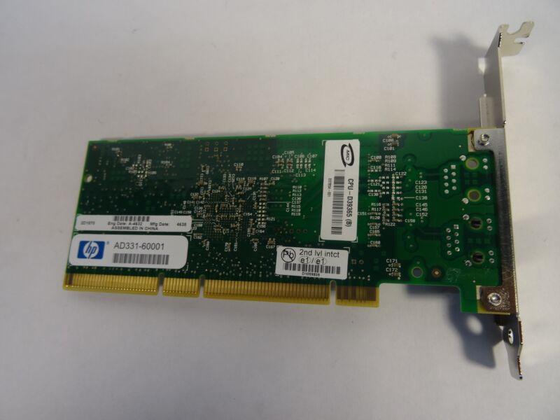 HP HEWLETT PACKARD AD331-60001 GIGABIT NETWORK ADAPTER