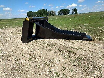 New Hd Stump Bucket 1.25 Cutting Edge .75 Side Cutting Teeth Deep Skid Steer