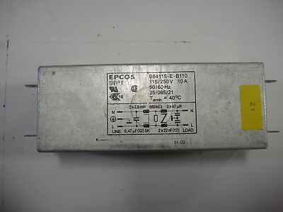 Heidelberg Qm 46 Flang Mount Power Line Filter Part B84115e