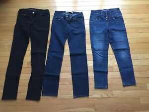 Jeans and cropped jeggings (4 pairs)