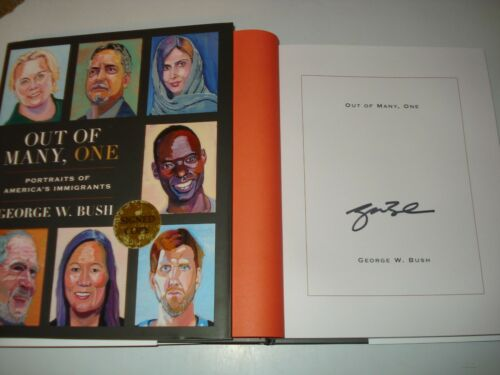 Signed George W Bush Out Of Many One US1/1