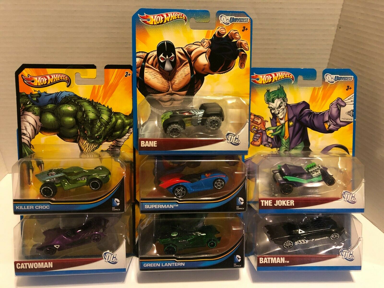 Hot Wheels - DC Comics 1 64 Scale - Lot Of 7 - Batman, Superman, The Joker, More - $7.99