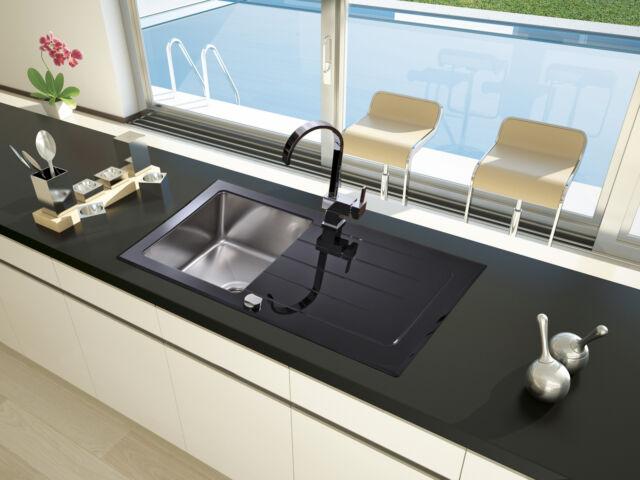 Glass Sink Kitchen Sink Black Built-in Sink Sink 86 X 50 Incl ...