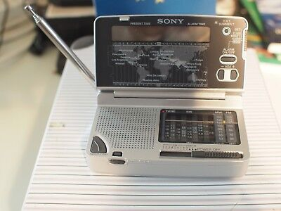 sony radio analog tuner  grey ICF SW12 (screen do not light up)