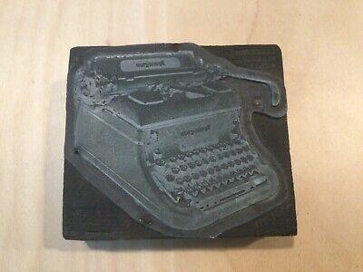 Letterpress Printing Print Block Remington Typewriter Vintage