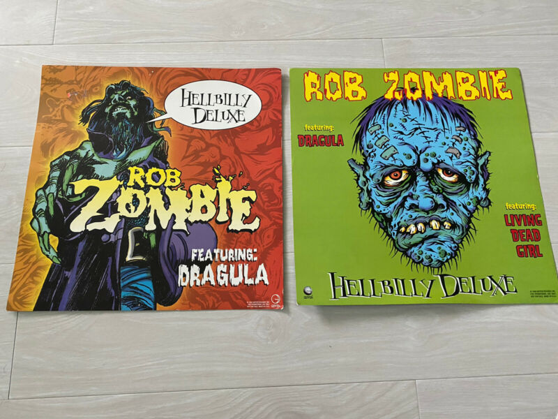 ROB ZOMBIE - Hellbilly Deluxe 12x12 Album Flat Poster x 2 - Both Variants! RARE!