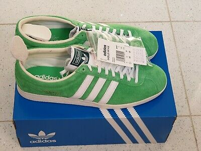 Adidas Gazelle Vintage UK 11 RRP £90 Green White Liverpool Ardwick Blackburn