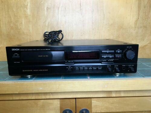 Denon DRS-640 Horizontal Stereo Cassette Deck Player Recorder Excellent