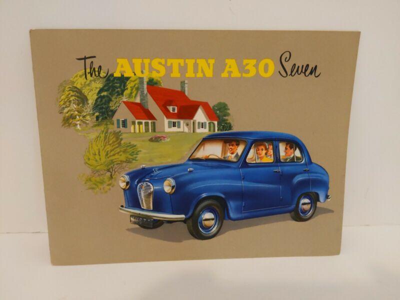 Vintage Austin A30 Seven Dealers Brochure