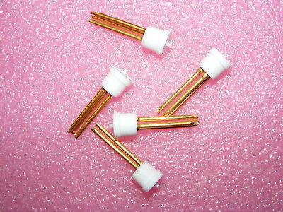 5 New Old Stock Augat Transistor Socket 3 Gold Pins Teflon Body