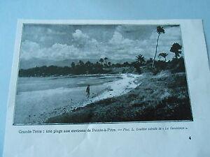 Print 1935 Grande Terre une plage aux environs de Pointe à Pitre